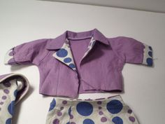 """VINTAGE PURPLE DOTTED ENSEMBLE for 22"""" Candy Fashion Doll Deluxe Reading   eBay"""