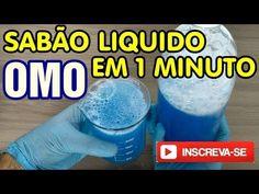 Sabão liquido tipo OMO em 1 minuto - YouTube