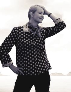 The classics: the perfect blouse; Beach Wrap, Chanel Couture, Cool Jackets, Faux Wrap Dress, Timeless Fashion, Vogue, Models, Pullover, Blouse