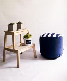 Poufs, Ms Gs, Outdoor Furniture, Outdoor Decor, Decorating Your Home, Dark Blue, Ottoman, Trust, Upholstery