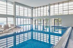 sqm Acquapura SPA area with saunas, steam bath, luxury shower, jacuzzi and indoor pool Steam Bath, Luxury Shower, Saunas, Next Holiday, Jacuzzi, 4 Star Hotels, Spa, Relax