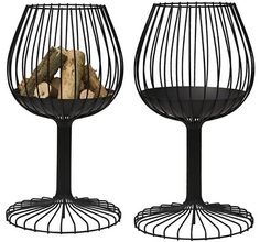 """For those who admire the elegance of a brandy glass here it is a """"hot"""" Brandy Designer Fire pit from Sywawa and designed by Lieven Musschoot and Mathias Hennebel.Y"""