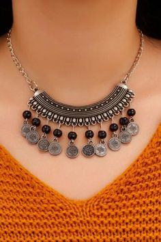 Ethnic Patterned Tugra Detailed Women Collar Necklace – LEYLA OLUĞ – Join the world of pin Boho Necklace, Collar Necklace, Boho Jewelry, Beaded Jewelry, Jewelry Necklaces, Fashion Jewelry, Antique Jewellery Designs, Jewelry Model, Handmade Jewelry Designs