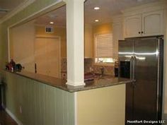 1000 images about load bearing wall ideas on pinterest - Kitchen island with post ...