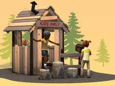 It's a clubhouse, a hideout, a fort... It's the PlayShaper Kids Cabin! And it can be anything #kids on your #playground can #imagine.