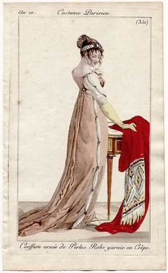 An 10 1801-1802 Costume Parisien Plate No 351