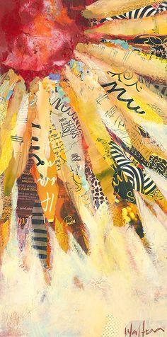 """Sunshine Daydream"" mixed media art by . – Carol Thon ""Sunshine Daydream"" mixed media art by . Paper Collage Art, Collage Art Mixed Media, Mixed Media Painting, Collage Collage, Painting Art, Flower Collage, Mixed Media Journal, Mixed Media Canvas, Art Paintings"