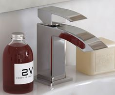 Vaux Modern Mini Basin Mixer Tap - V40111115VA scene square medium