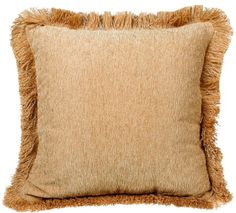 Brentwood Trieste 18-by-18-Inch Fringe Chenille Pillow