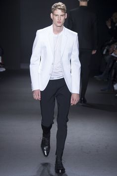 You had me at the jacket then you lost me at the underwear waistband... Calvin Klein Collection Fall 2016 Menswear Fashion Show