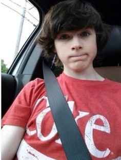 This is cute because 1. I take selfies with that face all the time 2. He's ADORABLE 3. ITS CHANDLER RIGGS!! OF COURSE ITS CUTE