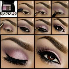 tutorial for pink, purple mauve, gray, white