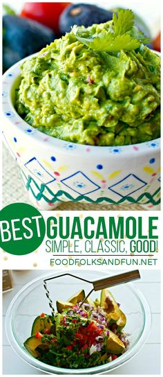 Guacamole Recipe – The Best EVER! This recipe is the best because it's simple, classic, and downright good! It's also a quick & easy recipe! | Best Guacamole Recipe