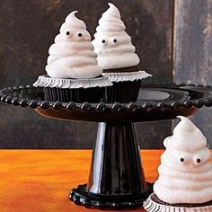 Chocolate Cupcakes with Meringue Ghosts | MyRecipes.com