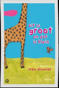 Dit is groot en dat is klein - Frow Steeman - 9789020981902. Probeer de tegenstellingen te ontdekken die de dieren in de tekstloze platen verbeelden. Hardkartonnen prentenboek met afgeronde hoeken en gekleurde illustraties in gemengde techniek. Vanaf ca. 2 jaar. GRATIS VERZENDING - BESTELLEN BIJ TOPBOOKS VIA BOL OF VERDER LEZEN? KLIK OP BOVENSTAANDE FOTO!