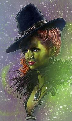 """Zelena, the Wicked Witch of Oz, from """"Once Upon a Time"""" Wizard Of Oz Witch, Wicked Witch, Ouat, Robin Hood Bbc, Once Up A Time, Cartoon Crossovers, A Series Of Unfortunate Events, Captain Swan, Comic Book Artists"""