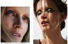 Simona Antonovic make-up artist/ Storybook beauty editorial / Copper gold red eye look