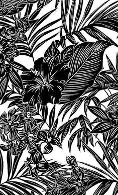 Textile Patterns, Textile Design, Print Patterns, Surface Pattern Design, Pattern Art, Motif Jungle, Black Phone Wallpaper, Tropical Pattern, Motif Floral
