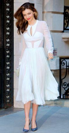 sheer white dress miranda kerr