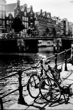 Canal View - Amsterdam, shot on film Amsterdam Canals, Netherlands, Shots, Black And White, Film, Irene, Photography, Holland, Black White