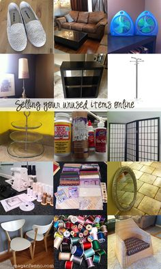 Sell stuff you have laying around your house online! Tips & Tricks for getting the most out of your online sales. Home Selling Tips, Selling Online, Selling On Ebay, Online Sales, Selling Furniture, Online Furniture, What To Sell, How To Make Money, Head Start