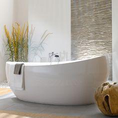 Villeroy & Boch Aveo new generation freistehende Badewanne weiß, mit Ab- und Überlauf - UBQ194AVE9W1V-01 | Reuter Onlineshop
