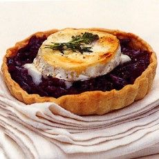 Delicious Caramelised balsamic red onion tart with goats cheese - a bit old hat now but l still love this combination