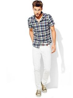 Mens Clothing: Mens Clothing: Head-to-Toe Looks New Arrivals | Gap - Love this plaid shirt (and his great hair! lol)
