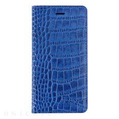 【【iPhone6 ケース】 Vivid Croco Diary コバルトブルー】GAZEのクロコスタイルの一つである「ビビッドクロコ」は、天然…
