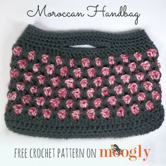 Moroccan Handbag - free crochet pattern on Mooglyblog.com!
