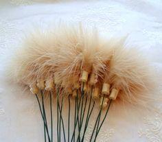 Wholesale Bulk Tickle My Fancy Marabou Feather Stems - 100 Flowers - Table Decor - Event Decorations - Wedding Reception Decorations