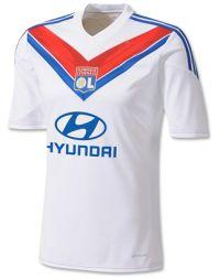 Olympique Lyonnais 2013-2014 season Home White Jersey