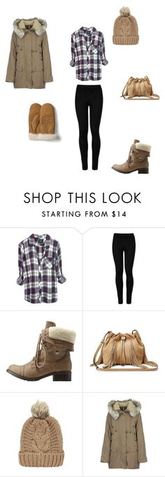"""Snow Day"" by gretchiebear ❤ liked on Polyvore featuring Rails, Wolford, Charlotte Russe, Diane Von Furstenberg, Free People and UGG Australia"