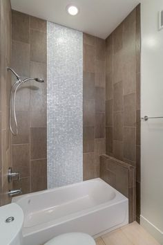 Contemporary Full Bathroom with Ambiance Palau Matte 12 in. x 24 in. Porcelain Floor Tile, Handheld showerhead