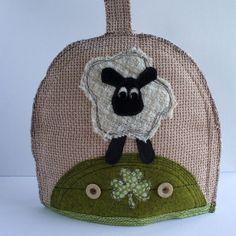 IRISH SHAMROCK SHEEP Cottage Tea Cozy.  Shabby Chic by SwinkyDoo, €32.00