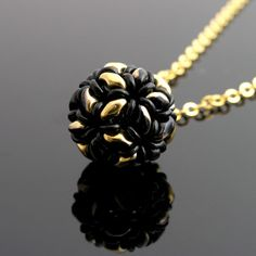 Superduo and o-beads beaded ball