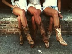This would be a cute pic of the bridesmaids and me in our boots and dresses