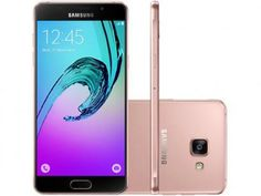 """Smartphone Samsung Galaxy A5 2016 Duos 16GB Rosê - Dual Chip 4G Câm 13MP + Selfie 5MP Tela 5.2"""" FHD"""