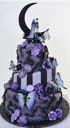 W603 – Butterfly Moon | Pastry Palace Las Vegas Cakes DUDE ITS A CORPSE BRIDE CAKE they cant even deny it.. shouldnt try.