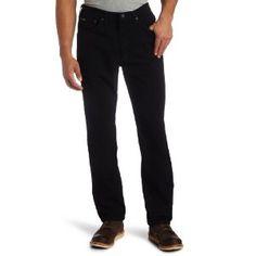 Lee Men's Regular Fit Straight Leg Jean, Double Black, 34W x 32L (Apparel)
