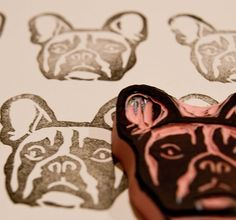 @Audrey -READY to SHIP New Size French Bulldog Rubber Stamp by PoshBinky, Etsy