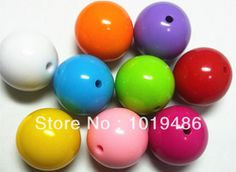 Online Shop 20MM 105pcs / Lot Mixed Color Big Chunky Gumball Bubblegum Acrylic Solid Beads ,Colorful Chunky Beads for Necklace Jewelry|Aliexpress Mobile