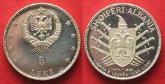 1969 Albanien ALBANIA 5 Leke 1969 SKANDERBEG silver Proof # 93485 Proof