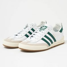 41e6a42dca7e3f ADIDAS ORIGINALS Jeans - FTW White   Collegiate Green BB7440