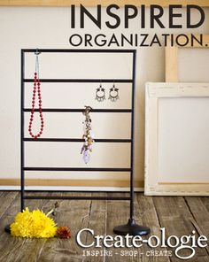 Standing Or Hanging Rack, $35 #jewelry #organize