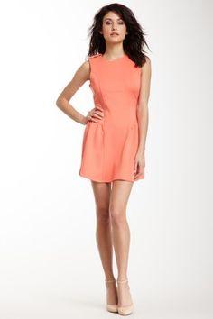 Sleeveless Epaulet Dress