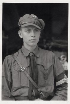 A teenage boy in the Hitler Youth