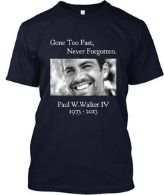Limited Edition Paul Walker Tees