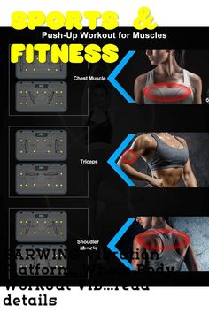 (This is an affiliate pin) BARWING Vibration Platform, Whole Body Workout Vibration Fitness Machine, Push Up Bars, Home Training Equipment for Body Shape&Massage Push Up Bars, Push Up Workout, Cutest Puppy Ever, Whole Body Workouts, Chest Muscles, Workout Machines, Training Equipment, Muscle Fitness, Body Shapes