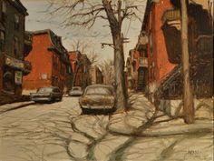 John Little (1928-….) Rue Panet coin Martineau, 1976Oil on canvas,12″ x 16″